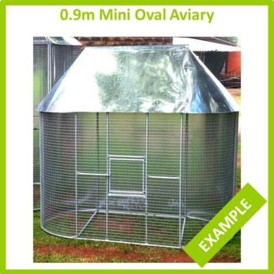 0.9m x 1.8m Mini Oval Aviary