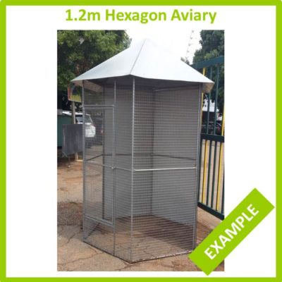 1.2m Hexagon Aviary