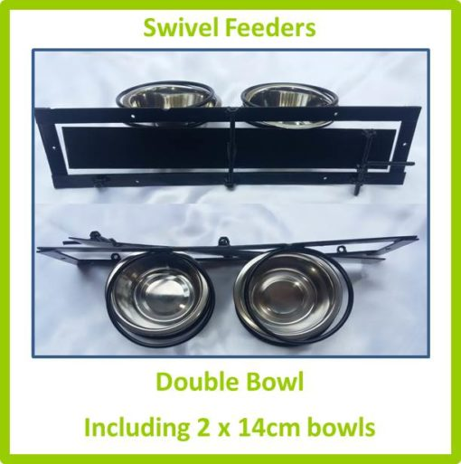 Swivel Feeder Double Bowl 14cm