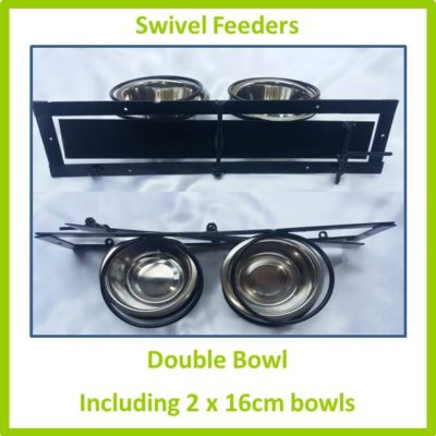 Swivel Feeder Double Bowl 16cm