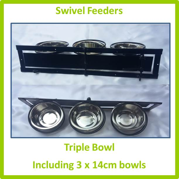 Swivel Feeder Triple Bowl 14cm