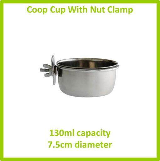 coop cup with nut clamp 290ml 7.5cm