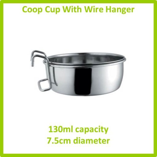 coop cup with wire hanger 130ml 7.5cm