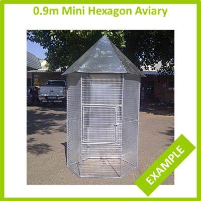 0.9m Mini Hexagon Aviary