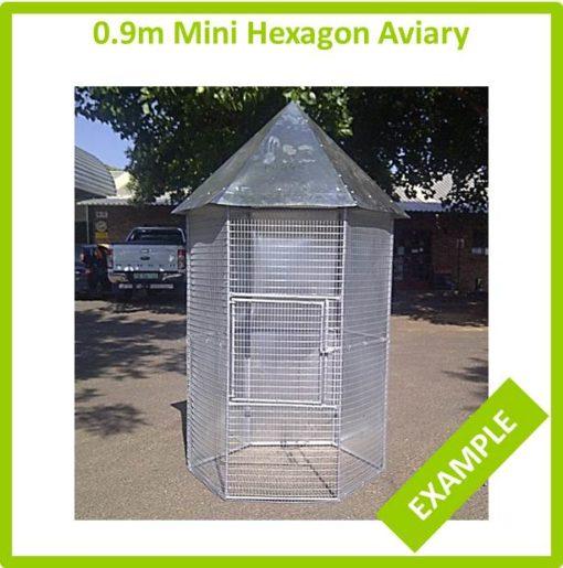 0.9m Mini Hexagon Aviary