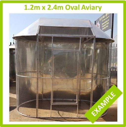 1.2m x 2.4m Oval Aviary