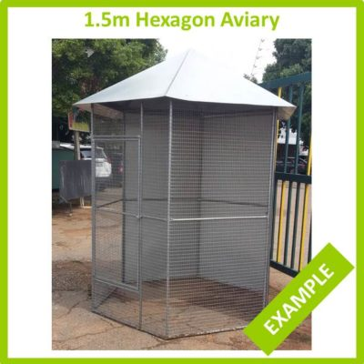 1.5m Hexagon Aviary