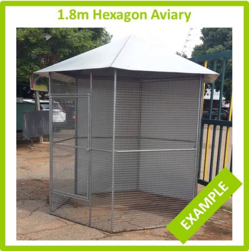 1.8m Hexagon Aviary