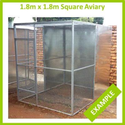 1.8m x 1.8m Square Aviary