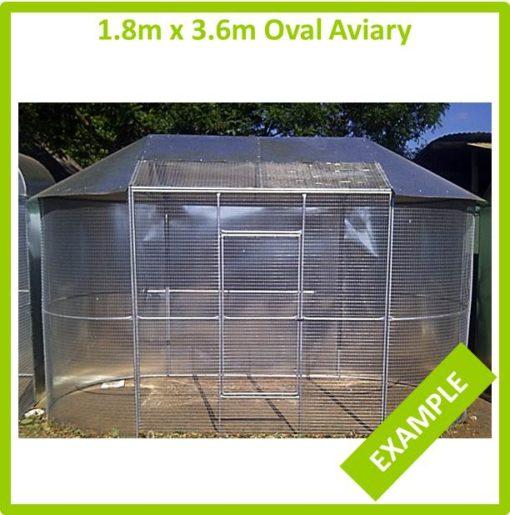 1.8m x 3.6m Oval Aviary