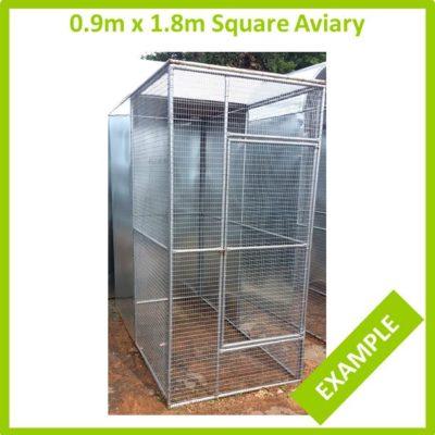 0.9m x 1.8m Square Aviary