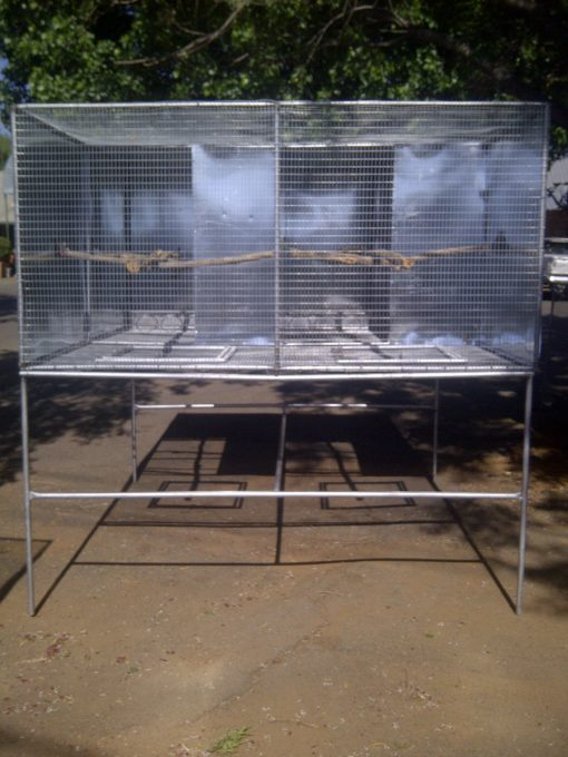 Suspended Aviary 0.9m X 0.9m X 1.8m Deep Single Incl Stand