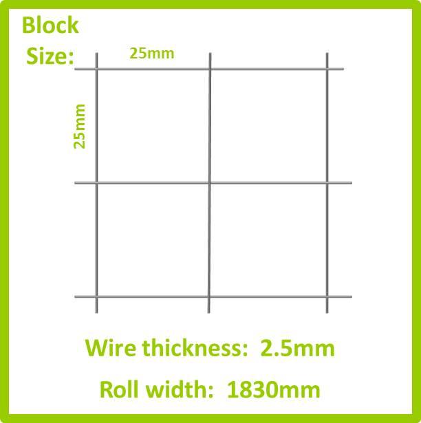 ref m119 galvanised welded mesh 25mm x 25mm x 2 5mm x 1830mm 30m rh meshforbirds co za