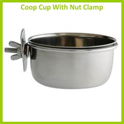Stainless Bowls - Coop Cup With Nut Clamp