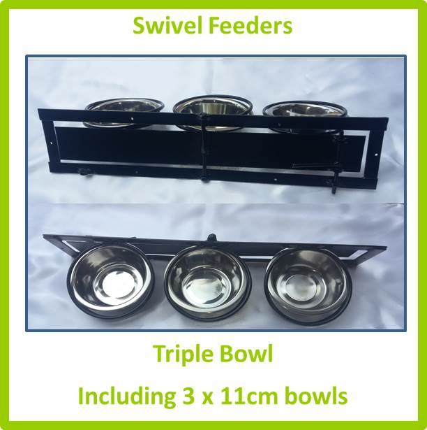 Swivel Feeder Triple Bowl 11cm