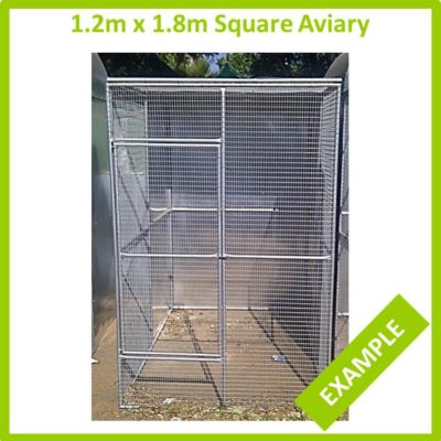 1.2m x 1.8m Square aviary