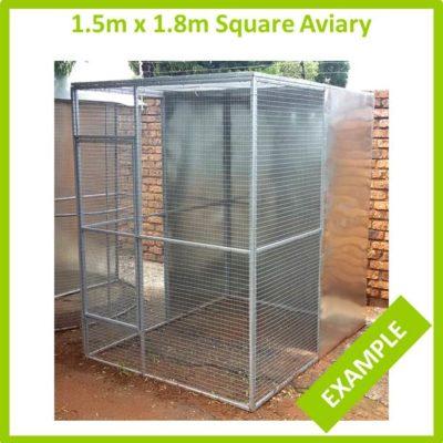 1.5m x 1.8m Square Aviary